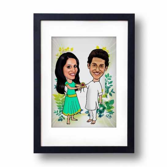 Happy Rakhi - Caricature Frame