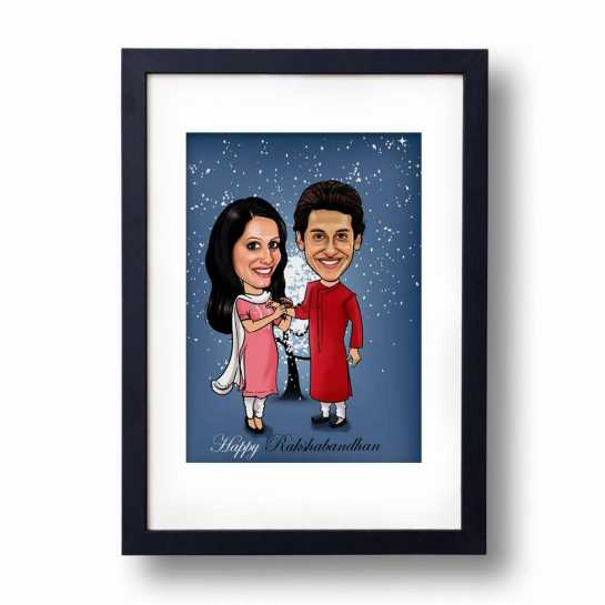 Perfect Bro/Sis - Caricature Frame