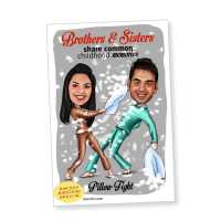 Sibling Love Caricature Magnet