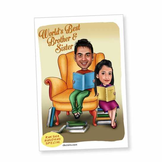 Best Brother Sister - Caricature Magnet