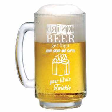 Engraved Beer Mug for Brother