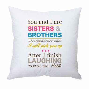 Personalized Cushion for Siblings