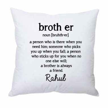 Personalized Cushion for Friendly Brother