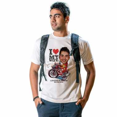 Biker Caricature T-shirt