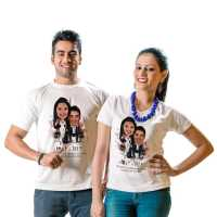 Caricature T-shirt for Couple