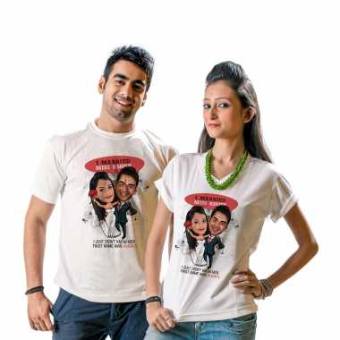Caricature T-shirt for Newly Weds