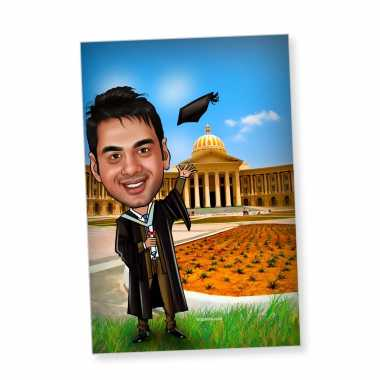 Graduation - Caricature magnet