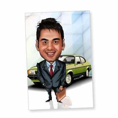 Businessman - Caricature magnet
