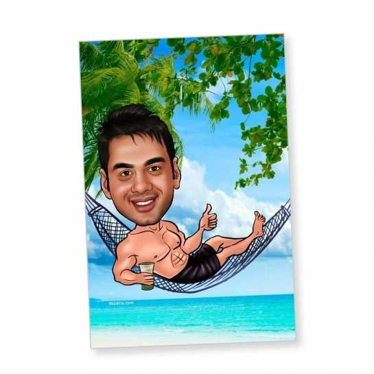 Beach boy - Caricature magnet