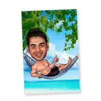 Beach Life Caricature Magnet