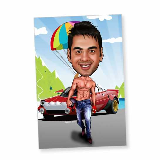Actor - Caricature magnet