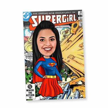 Super Girl - Caricature magnet