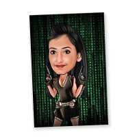 Action Girl - Caricature magnet