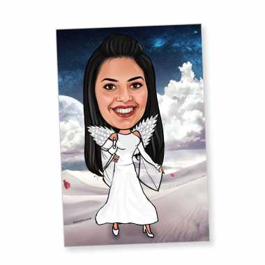 Special Angel Caricature Magnet