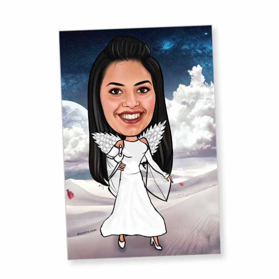 Angel - Caricature magnet