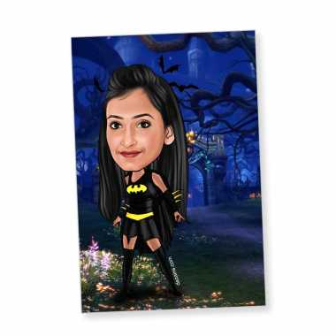 Bat Girl - Caricature magnet