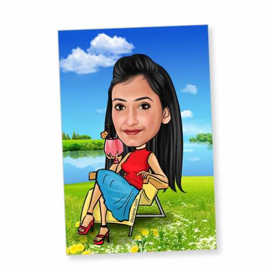Chillout - Caricature magnet