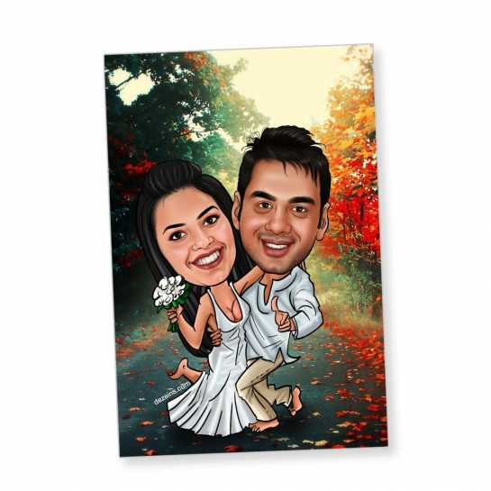 Hot Couple - Caricature magnet