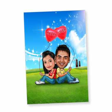 True Lovers Caricature Magnet