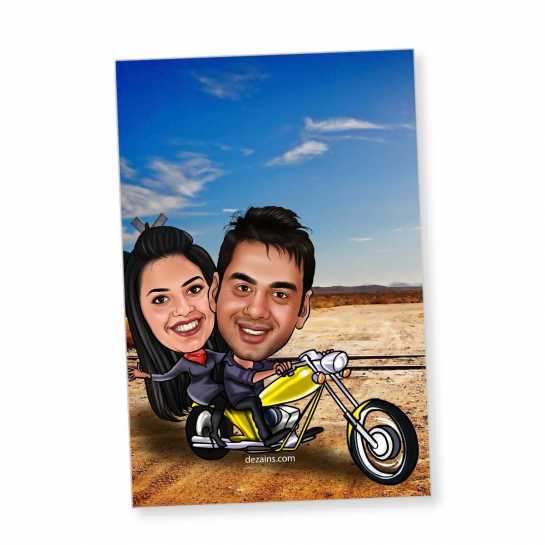 Couple Cruiser - Caricature magnet