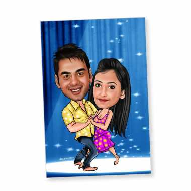 Dancing Couple - Caricature magnet