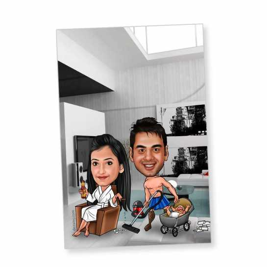 Wife Boss - Caricature magnet