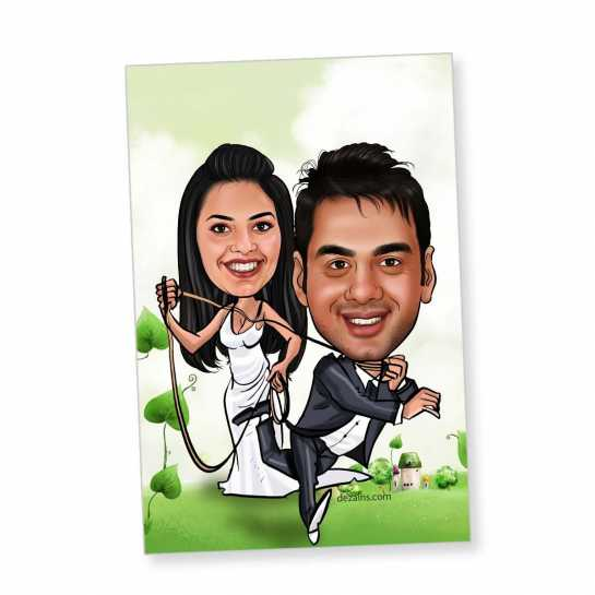 You are Mine - Caricature magnet