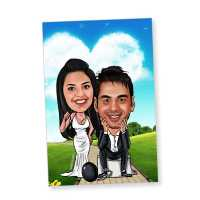 Love Bounds Caricature Magnet