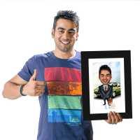 Businessman - Caricature Photo Frame
