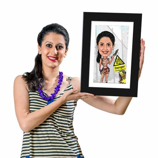Tomb Raider - Caricature Photo Frame