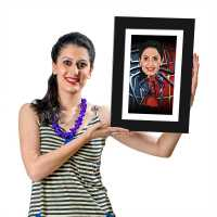 Spider Girl Caricature Photo Frame