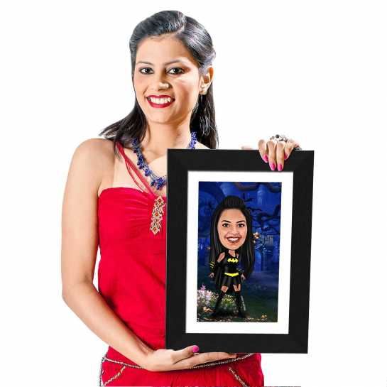 Bat Girl- Caricature Photo Frame