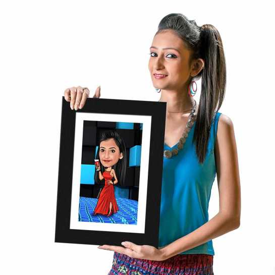 Party Girl - Caricature Photo Frame