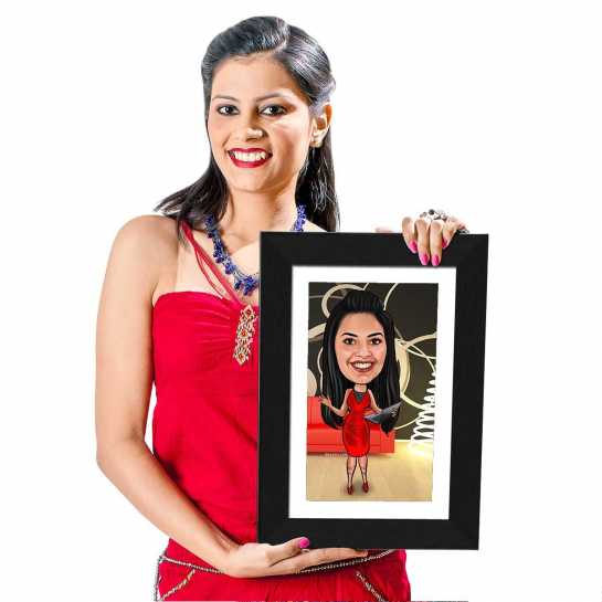 Modern Girl - Caricature Photo Frame
