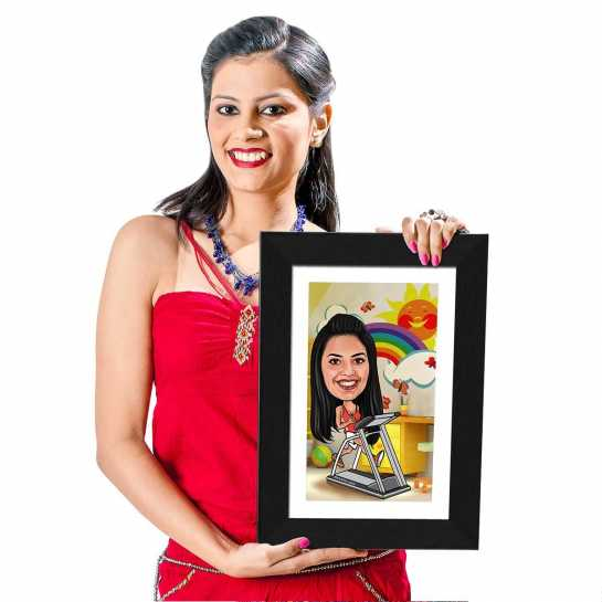 Fitness Freak - Caricature Photo Frame