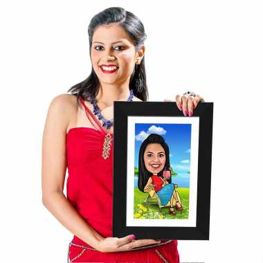 Chillout - Caricature Photo Frame