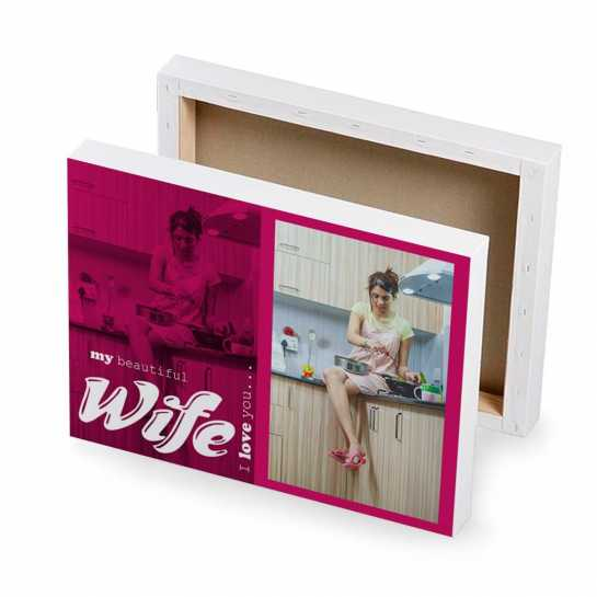 Best wife photo canvas gift
