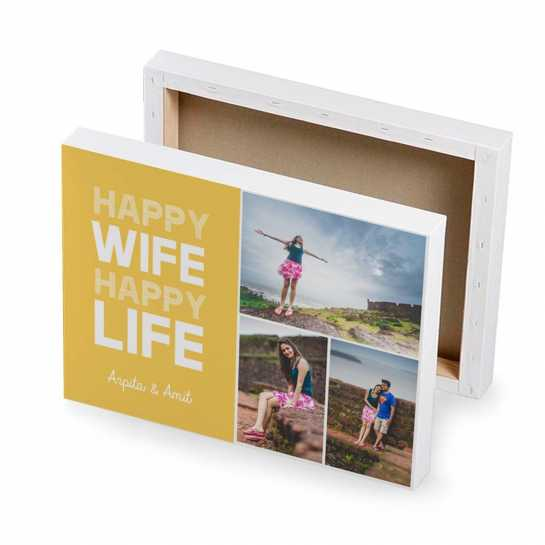 happy wife canvas gifts