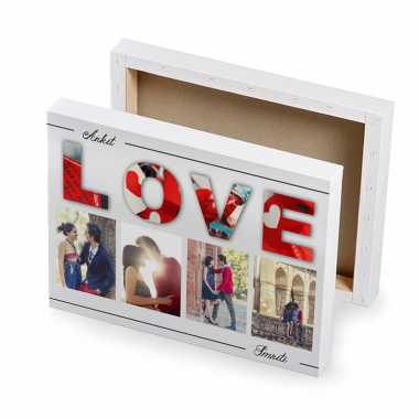 Canvas Photo Frame for Young Couples