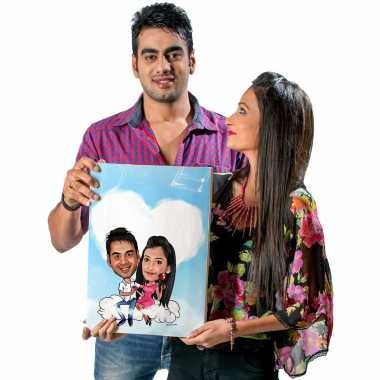 On Cloud 9 - Caricature Canvas