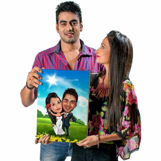 Super Couple - Caricature Canvas