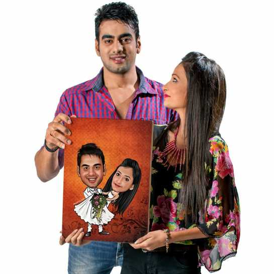 Best Couple - Caricature Canvas