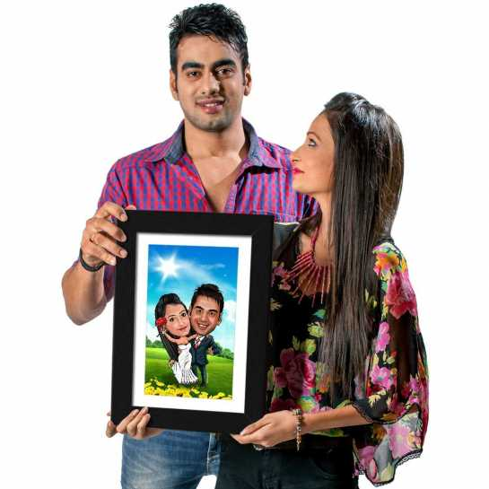 Super Couple - Caricature Photo Frame