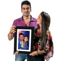 Ethnic Couple - Caricature Photo Frame