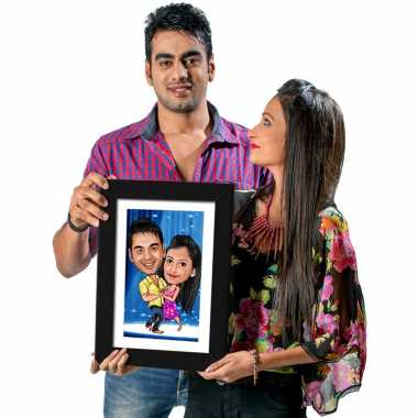 Nach Baliye Caricature Photo Frame
