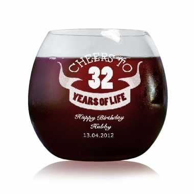 Wine Glasses - Hubby Birthday