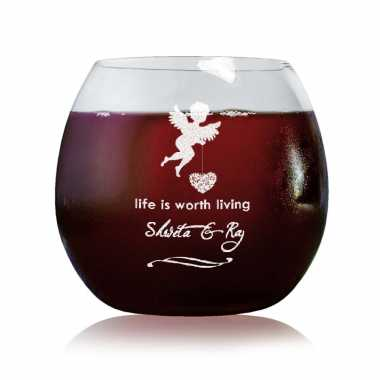 Cupid Engraved Wine Glass tumbler