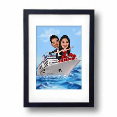 Titanic Pose - Caricature Photo Frame