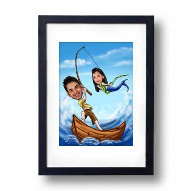 Ariel on the Wall Caricature Photo Frame