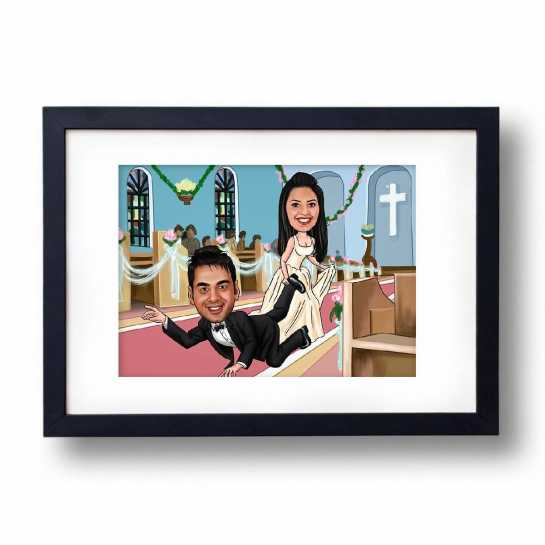 Having Cold Feet - Caricature Photo Frame